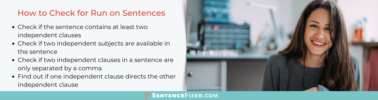 how to check for run on sentences