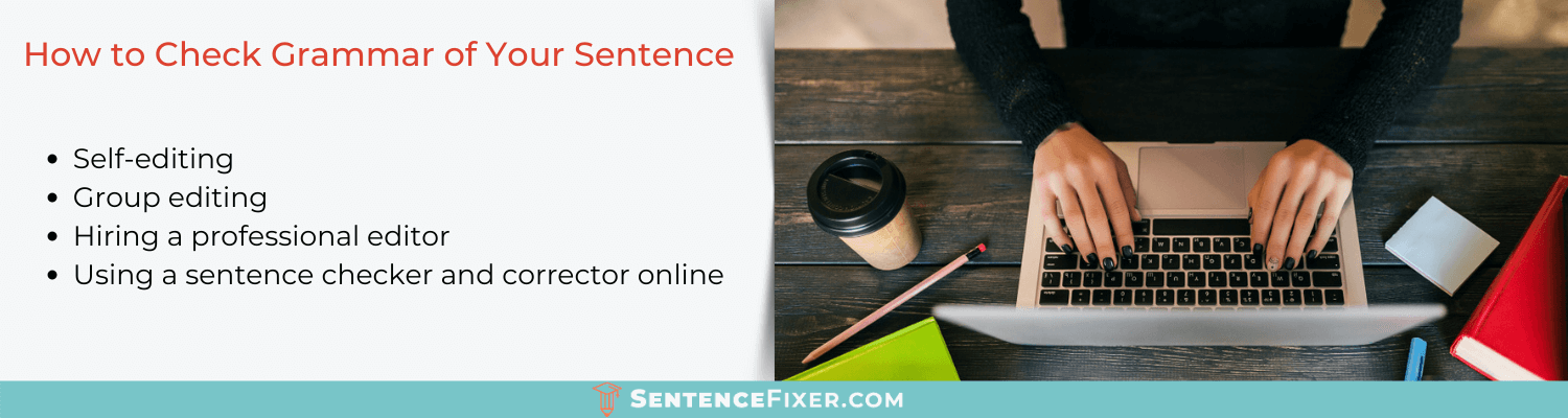 how to check my grammar in a sentence