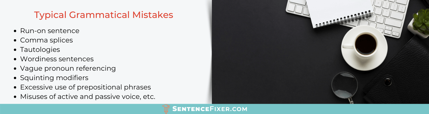 mistakes to fix with sentence grammar corrector